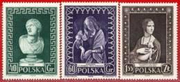 Polonia. Poland. 1956. Mi 990 / 92. UNESCO. Int. Museum Week. Semana Int. De Los Museos - 1944-.... República