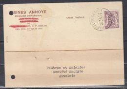 Kaart Van Chastre-Villeroux Naar Auvelais - 1935-1949 Kleines Staatssiegel