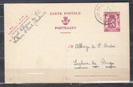 Postkaart Van Walhain St Paul Naar Lophem Lez Bruges - 1935-1949 Petit Sceau De L'Etat