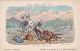 FABLE DE LA FONTAINE  LE CHEVAL ET L,ANE - Contes, Fables & Légendes
