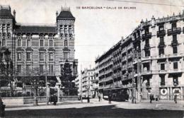 BARCELONA - Calle De Balmes - Rückseite Geteilt: Ja  - Gelaufen: Ja- Jahr: Ca.1911- Herausgeber: Hs Barna - Spanien
