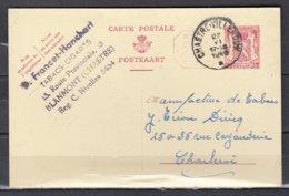 Postkaart Van Chastre-Villeroux Naar Charleroi - 1935-1949 Kleines Staatssiegel
