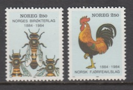 Norway MNH Michel Nr 908/09 From 1984 / Catw 1.40 EUR - Norvegia