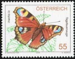 AUSTRIA 2005 Peacock Butterfly Insects Butterflies Animals Fauna MNH - Butterflies