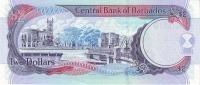 BARBADOS P. 66b 2 D 2007 UNC - Barbados
