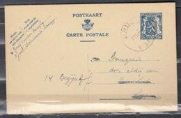 Postkaart Van Brugge E3E Naar Loppem - 1935-1949 Petit Sceau De L'Etat