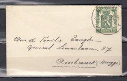 Brief Van Brugge L Naar Assebroek - 1935-1949 Petit Sceau De L'Etat