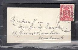 Brief Van Brugge F3F Naar Assebroeck - 1935-1949 Petit Sceau De L'Etat