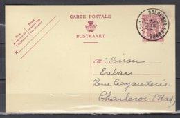 Postkaart Van Solre Sur Sambre Naar Charleroi Nord - 1935-1949 Small Seal Of The State