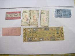 LOT DE TICKETS R.A.T.P. BUS  TBE - Titres De Transport