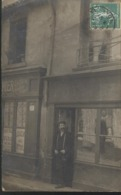 CPA Carte Photo Lyon 4ème - Comptoir De Vins Grande Rue De La Croix Rousse - Circulée 1909 - Lyon
