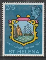 St Helena 1967 New Constitution 2'6 Sh P Yellow SW 191 * M/M - Saint Helena Island