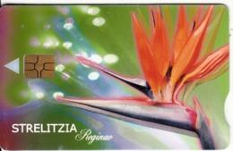 SOUTH AFRICA - Flower, Strelitzia, Telkom Telecard, Chip GEM3.3, Exp.date 05/02, Used - Südafrika
