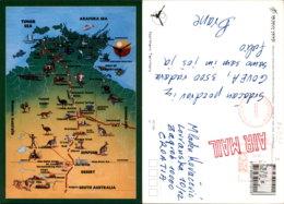 NORTHERN TERRITORY MAP,AUSTRALIA POSTCARD - Australien