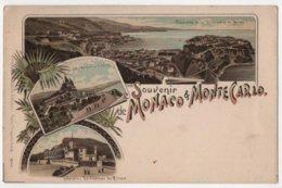 SOUVENIR DE MONACO & MONTE-CARLO Litho - Monte-Carlo
