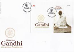 Portugal 2019 Fdc S/Sheet & Stamp Birth Anniversary Of Mahatma Gandhi - Mahatma Gandhi