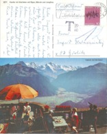 """Taxierte AK  """"Harder Ob Interlaken"""" - Görlitz           1972 - Suisse"""