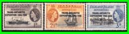 FALKLAND ISLANDS 3 SELLOS NUEVOS AÑO 1952 SERIE DIFERENTES VALORES - 1944-... República