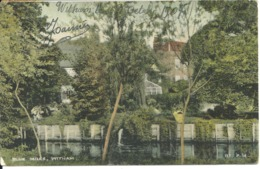 BLUE MILLS - WITHAM ESSEX WITH WITHAM SKELETON POSTMARK - England