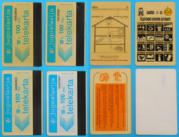 Ex YUGOSLAVIA - Lot Of 4. Old & Rare Magnetic Cards Of 100. Units * Croatia Serbia Slovenia Macedonia Montenegro Kosovo - Montenegro