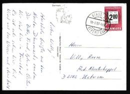 E 3) DK Dänemark 1987 Mi# 890 EF Auf AK (Skagen, Norddänemark): Verbraucherberatung, Postgebührenzettel - Dänemark