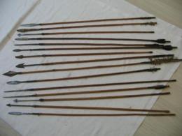 Rare Carquois Et  Flèches Fin 19 ème,old Arrows - Knives/Swords