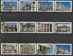 2019 FRANCE Adhesif 1671-82 Oblitérés, Cachet Rond, Architecture , Série Complète - Frankreich