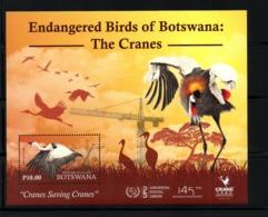 BOTSWANA, 2019 ,, BIRDS - CRANES, With Logo UPU 145 Years, M/S, MNH**, NEW!! - Uccelli