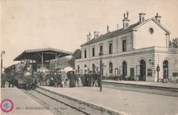 41 Romorantin La Gare Cpa Carte Animée Locomotive à Vapeur Train Chemin De Fer - Romorantin