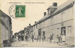 SAINT MAUR  (Oise) Café PETIT Vue Vers FEUQUIERES - Crevecoeur Le Grand