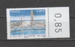 FRANCE / 2017 / Y&T N° 5166 ** : Le Hâvre (500 Ans De Sa Fondation) X 1 BdF D - France