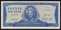 CUBA 20 PESOS 1978 PICK 105b UNC - Kuba