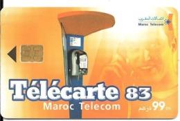 CARTE-PUCE-MAROC-99Dhs-TELECARTE 83 -Exp 08/02-UTIL-TBE - Maroc