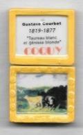 """Féve  COQUY, Personnage, Peintre Gustave  COURBET  1819 - 1877, Reproduction Tableau """" Taureau Blanc Et Génisse Blonde """" - Personajes"""
