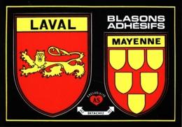 Laval Et Ville De Mayenne Blasons Adhésifs - Laval