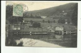 25 - Doubs - Besançon - Bords Du Doubs à Brégille - Bateau Lavoir - Lavandières - Cliché Avant 1903 - - Besancon