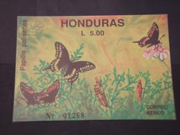 HONDURAS - BF 1991 FARFALLE/PIANTE - NUOVI(++) - Honduras