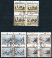 Zumstein 760-762 / Michel 821-823 Viererblockserie Mit ET-Zentrumstempel - Used Stamps