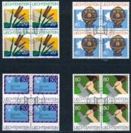 Zumstein 763-766 / Michel 824-827 Viererblockserie Mit ET-Zentrumstempel - Used Stamps