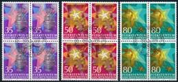 Zumstein 824-826 / Michel 884-886 Viererblockserie Mit ET-Zentrumstempel - Used Stamps