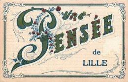 59 - Nord - LILLE - 591302 - Cpa Carte Fantaisie Ancienne Voyagée - - Lille