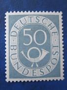 Bund Posthornmarke Mi 134 **  Postfrisch , Einwandfrei - Ungebraucht