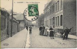 CAUDRY  Rue De Saint-Quentin  (Attelage D'Âne) - Caudry