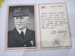 LETTRE De VICHY NOEL 1940 CARTE DOUBLE MARECHAL PETAIN LE CHEF DE L'ETAT  TBE - Marcophilie (Lettres)
