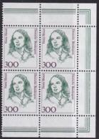 BRD, 1989,  Nr. 1433 ** Frauen Der Deutschen Geschichte,  Viererblock Mit Rechtem Rand Aus Kleinbogen - Nuovi