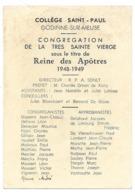 Godinne Sur Meuse Collège Saint Paul 1948-1949 - Old Paper