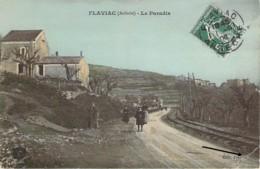 07 ARDECHE Le Quartier De Paradis à FLAVIAC Carte Colorisée - Other Municipalities