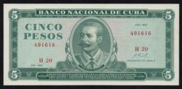 CUBA 5 PESOS 1967 PICK 103a UNC - Kuba