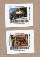 """BRD - Privatpost Biberpost - 2 Marken """"3 Harzer Hexen"""" (Wert: 0,48 EUR + 1,25 EUR) - Privatpost"""