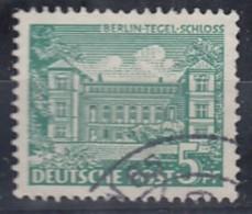 BERLIN  MiNr. 44 PF I, Gestempelt, Tegeler Schloß, Ausbuchtung In Unterer Tür, 1949 - Gebraucht